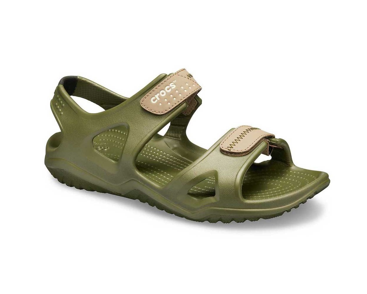 Men's CROCS Swiftwater™ River Sandal Army Green / Khaki Мужские Кроксы Сандалии
