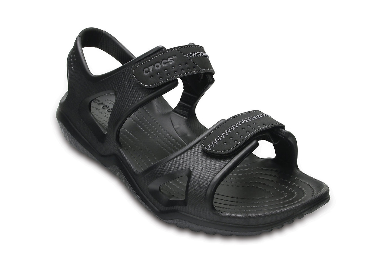 Men's CROCS Swiftwater™ River Sandal Black / Black Мужские Кроксы Сандалии