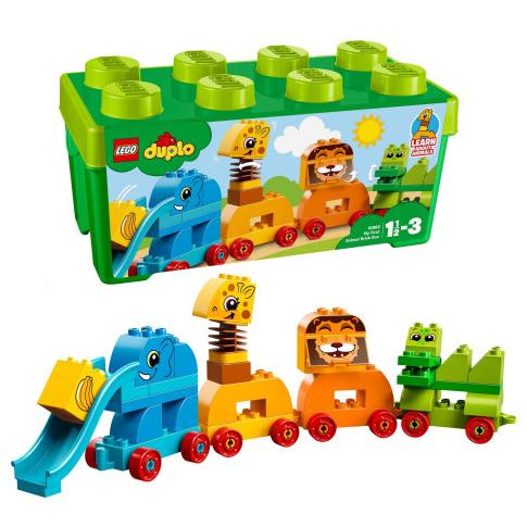 Конструктор LEGO DUPLO 10863 Коробка с кубиками Мое первое животное 34 детали