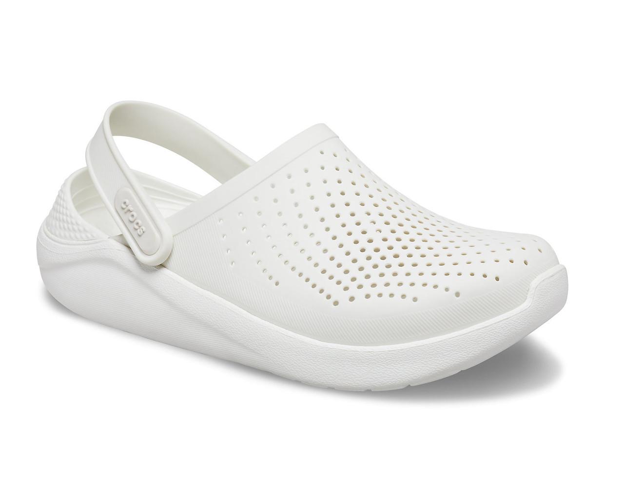 CROCS LiteRide™ Clog Almost White / Almost White Женские Мужские Кроксы Сабо