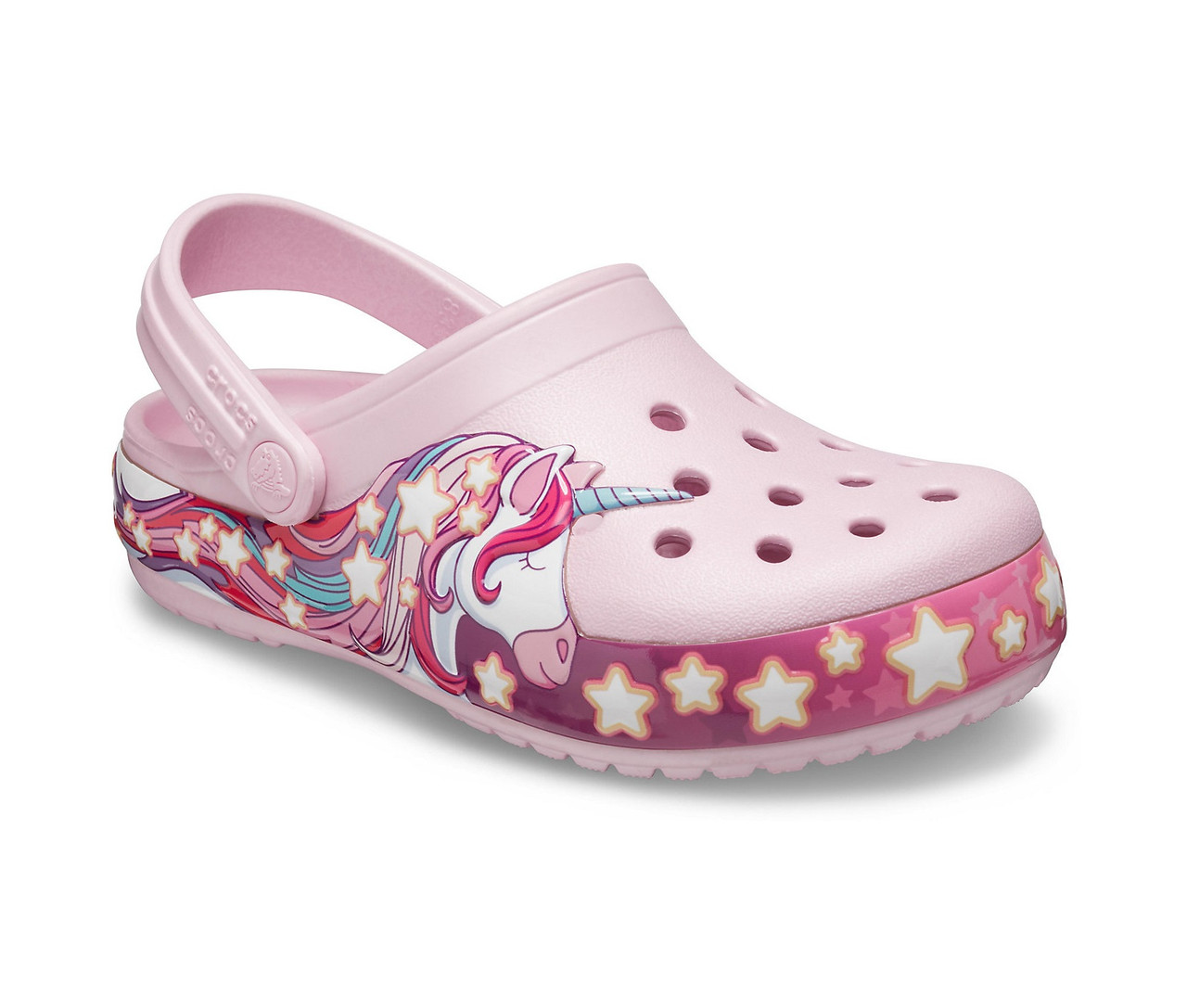 CROCS Kids' Fun Lab Unicorn Band Clog Lavender Детские Кроксы Сабо