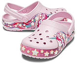 CROCS Kids' Fun Lab Unicorn Band Clog Lavender Детские Кроксы Сабо, фото 2