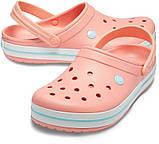 CROCS Crocband™ Clog Melon / Ice Blue Женские Кроксы Сабо, фото 2