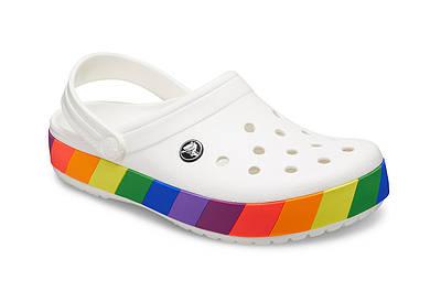 CROCS Crocband Rainbow Block Clog White Multi 206361 Женские Кроксы Сабо M5W7 -37 размер - длина стельки 23,5-24,0 см