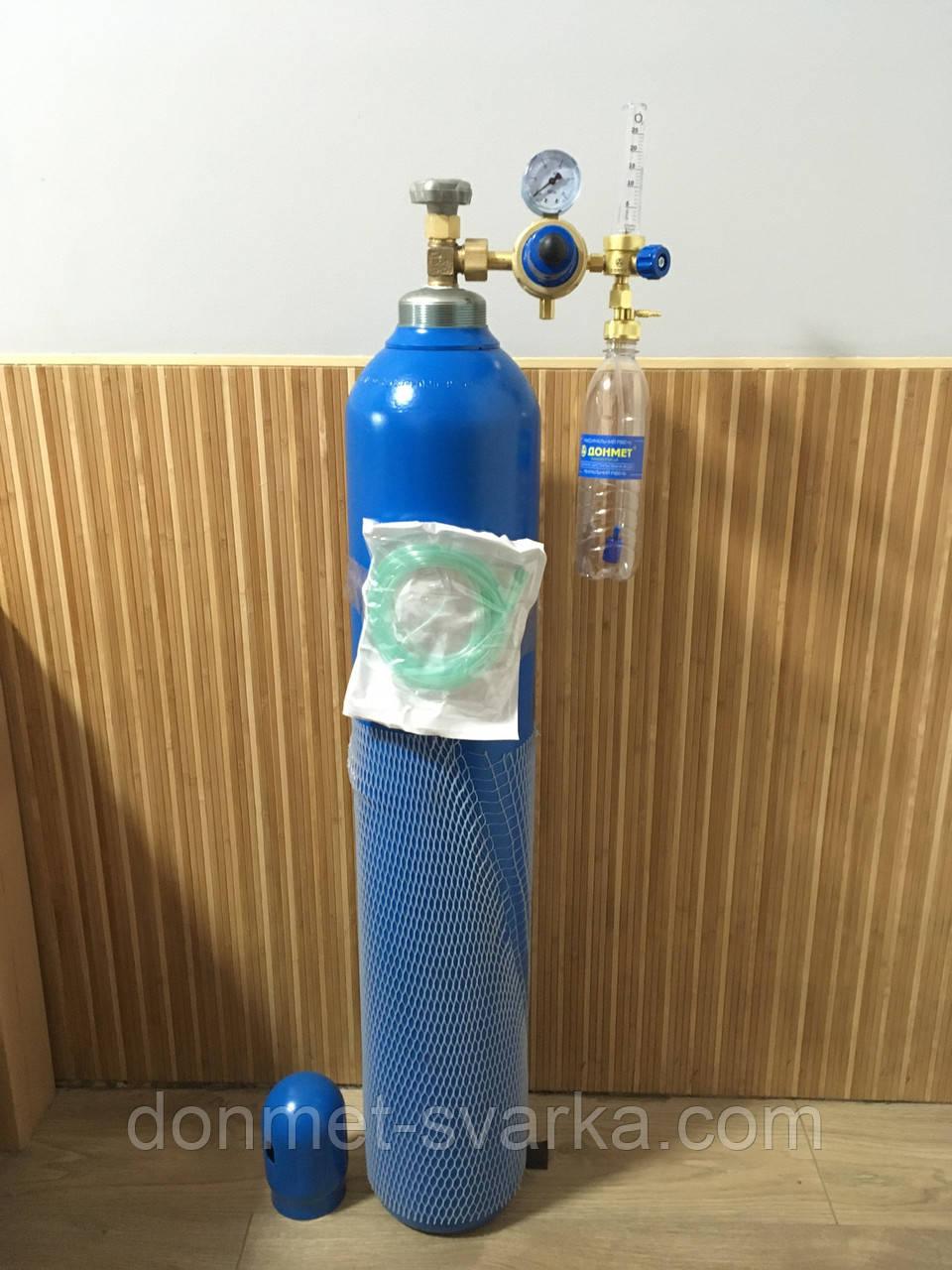 Кислородный баллон  20 л с редуктором и увлажнителем для дыхания