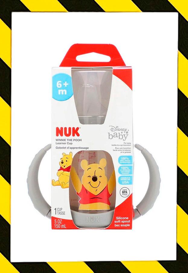 NUK, Disney Baby, Бутылка непроливайка, Поиилка для детей от 6 мес+ (150 ml)