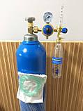 Кислородный баллон  20 л с редуктором и увлажнителем для дыхания, фото 2