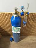 Кислородный баллон  20 л с редуктором и увлажнителем для дыхания, фото 3