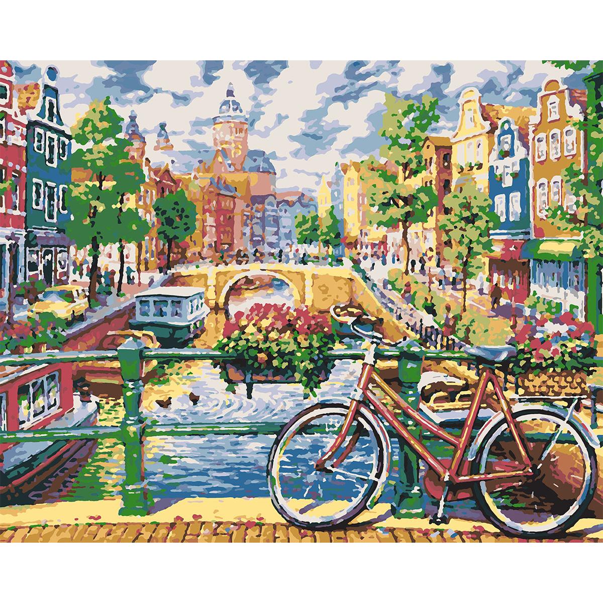 """Набір, картина за номерами """"Чарівний Амстердам"""", 40*50 см, SANTI"""
