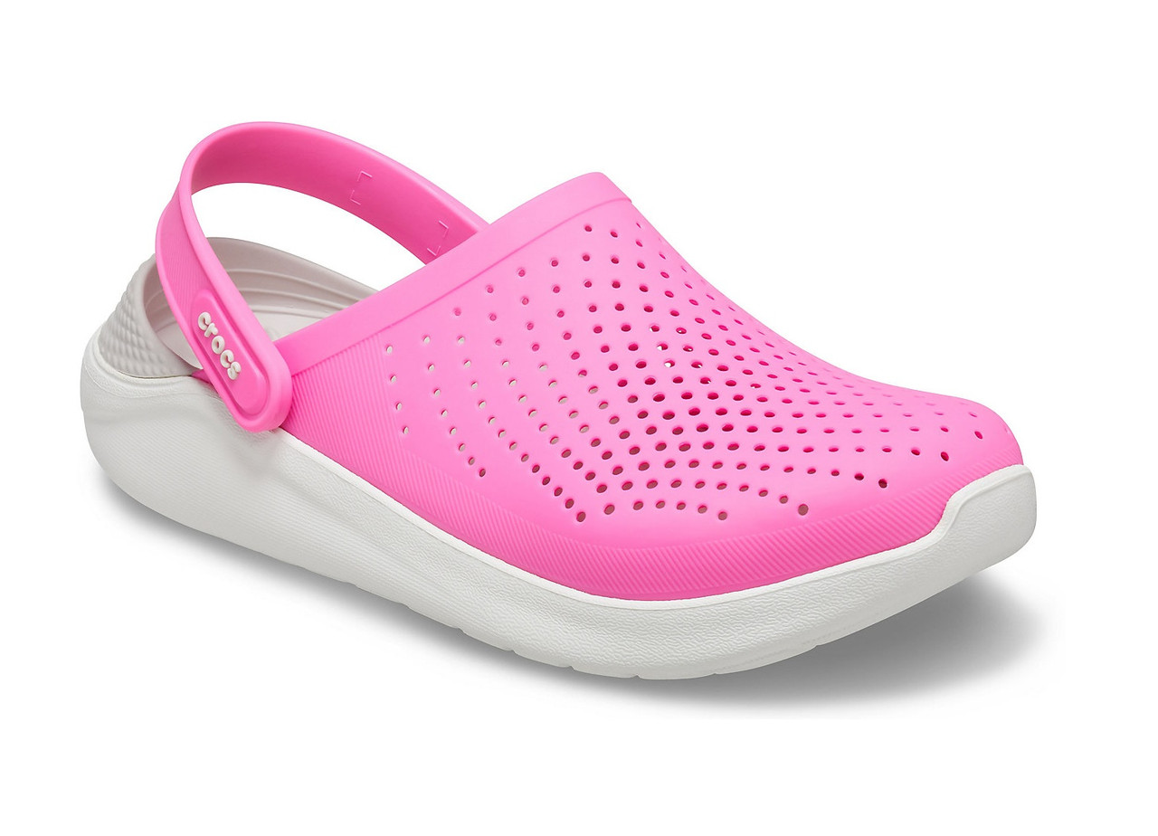 CROCS LiteRide™ Clog Electric Pink / Almost White Женские Кроксы Сабо