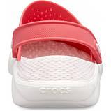 CROCS LiteRide™ Clog Poppy / White Женские Кроксы Сабо, фото 5