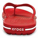 CROCS Crocband™ Flip-Flop Red Женские Мужские Кроксы шлепанцы, фото 4