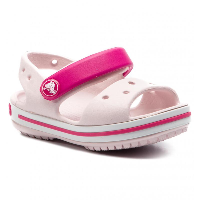 CROCS Kids' Crocband™ Sandal Barely Pink Детские Кроксы Сандалии