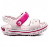 CROCS Kids' Crocband™ Sandal Barely Pink Детские Кроксы Сандалии, фото 2