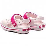 CROCS Kids' Crocband™ Sandal Barely Pink Детские Кроксы Сандалии, фото 3