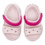 CROCS Kids' Crocband™ Sandal Barely Pink Детские Кроксы Сандалии, фото 4