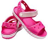 CROCS Kids' Bayaband Sandal Candy Pink Детские Кроксы Сандалии, фото 2