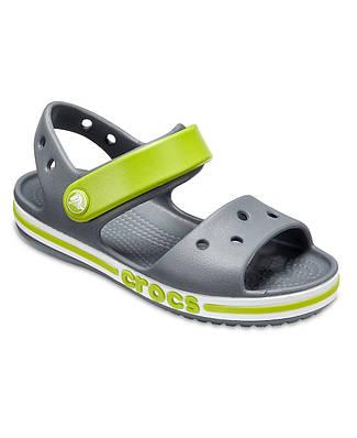 CROCS Kids' Bayaband Sandal Charcoal 205400 Детские Кроксы сандалии J3 - 34/35 размер - длина стельки 22-22.5см