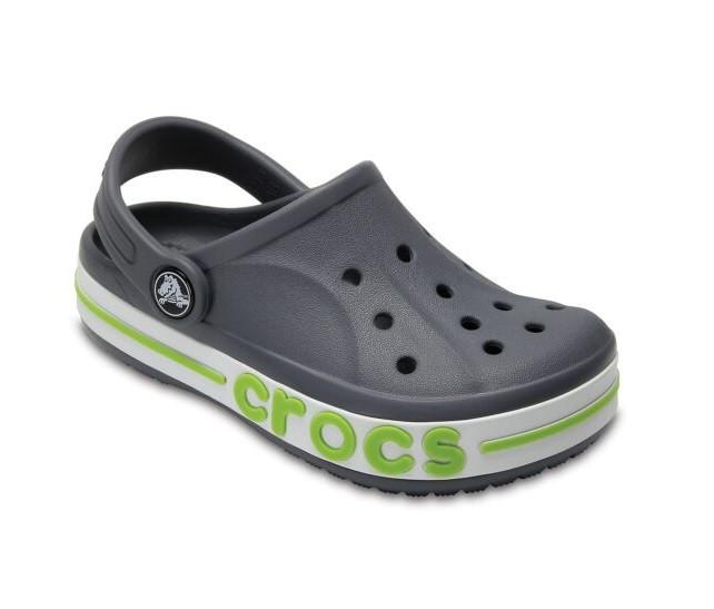 CROCS Kids' Bayaband Clog Charcoal Детские Кроксы Сабо