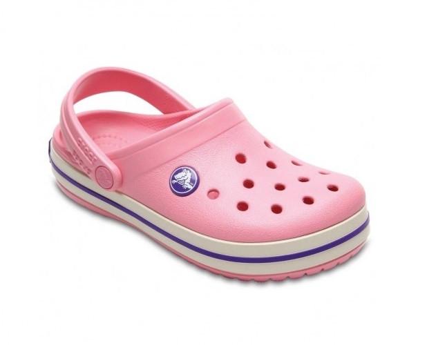 CROCS Kids' Crocband™ Clog Peony Pink / Stucco Детские Кроксы Сабо