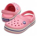 CROCS Kids' Crocband™ Clog Peony Pink / Stucco Детские Кроксы Сабо, фото 2