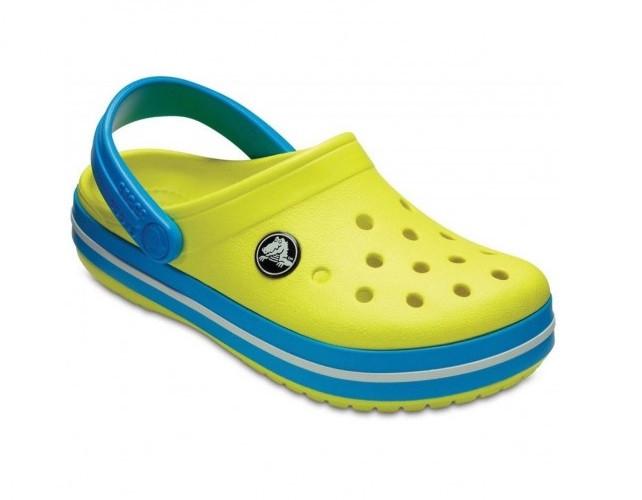 CROCS Kids' Crocband™ Clog Tennis Ball Green / Ocean Детские Кроксы Сабо