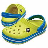 CROCS Kids' Crocband™ Clog Tennis Ball Green / Ocean Детские Кроксы Сабо, фото 2