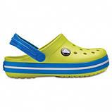 CROCS Kids' Crocband™ Clog Tennis Ball Green / Ocean Детские Кроксы Сабо, фото 3