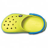 CROCS Kids' Crocband™ Clog Tennis Ball Green / Ocean Детские Кроксы Сабо, фото 4