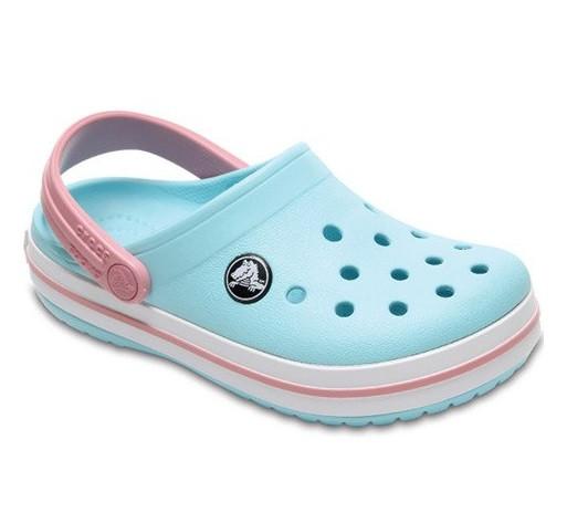 CROCS Kids' Crocband™ Clog Ice Blue / White
