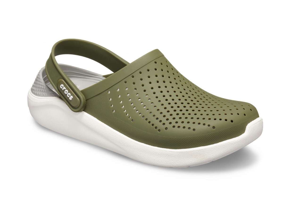 CROCS LiteRide™ Clog Army Green / White Мужские Кроксы Сабо