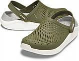 CROCS LiteRide™ Clog Army Green / White Мужские Кроксы Сабо, фото 2
