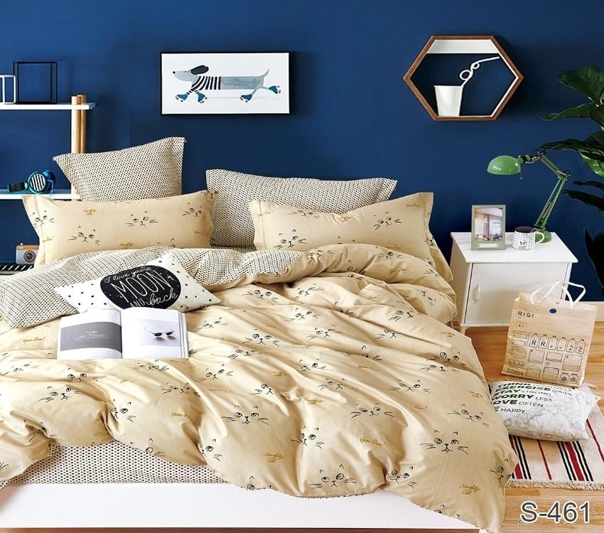 Полуторный комплект постельного белья из хлопка Полуторний комплект постільної білизни 1.5-спальный S461