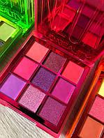 Тени для век Huda Beauty Neon Pink Obsessions 9 цветов