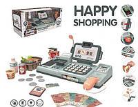 """Кассовый аппарат """"HAPPY SHOPPING"""" 25 предметов, сканер, весы, кассовая лента, 25 мелодий, подсветка, в коробке"""
