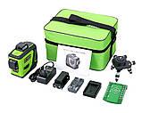 Лазерный уровень/лазерный нивелир ЗЕЛЕНЫЙ ЛУЧ 3D Fukuda MW-93T-2-3GJ (яркий зеленый луч). Аккумулятор 2600!, фото 2