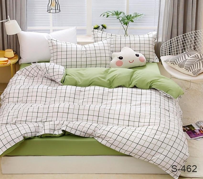 Полуторный комплект постельного белья из хлопка Полуторний комплект постільної білизни 1.5-спальный S462