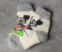 Шерстяные носки детские, зимние детские носочки , 16-20 см, фото 1