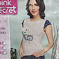 Жіноча піжама футболка + шорти 44-50р Secret Pink (Туреччина)
