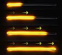 Вогні денні ходові ZIRY DRL INT dynamic 30cm w/y з вказівником повороту, гнучкі, фото 4