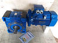 Червячный мотор-редуктор NMRV90 1:80 с эл.двигателем 0.25кВт 750 об/мин, фото 1