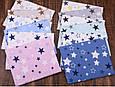 Сатин (хлопковая ткань) мятные, черные, серые звезды на белом, фото 2