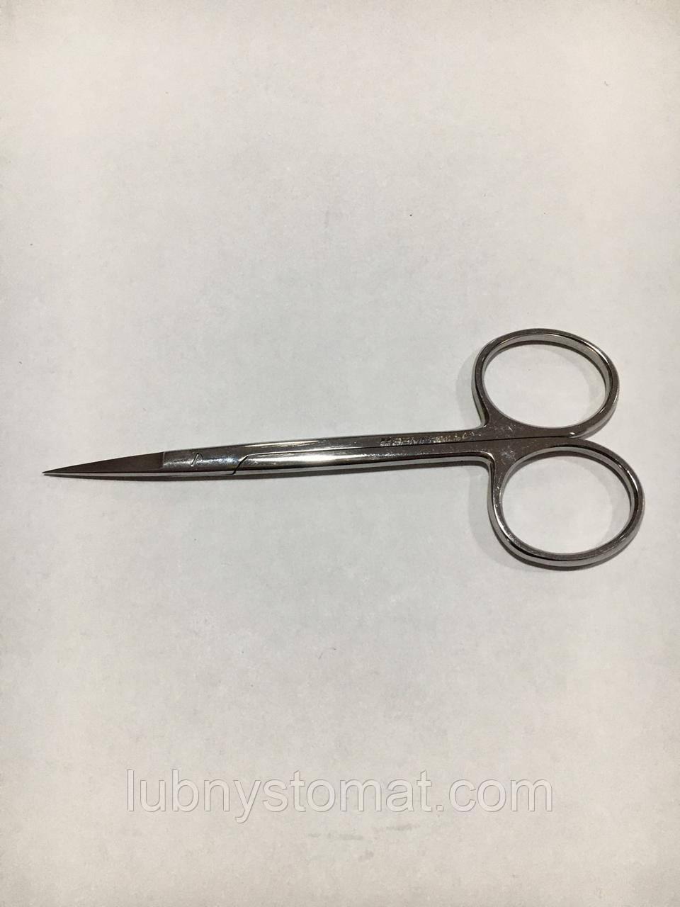 Ножиці очні прямі гострокінцеві 113мм
