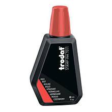 Штемпельна фарба червона 28 мл, Trodat 7011