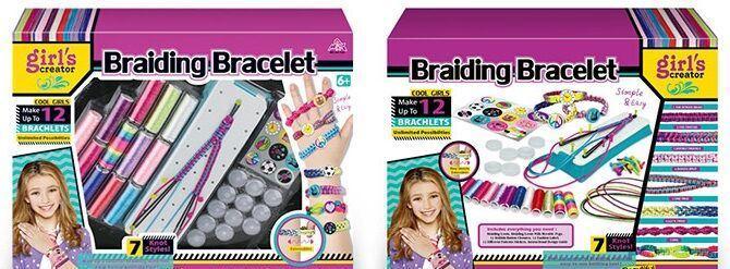 """Набор для плетения браслетов Girls Creator """"Braiding Bracelet"""" ткацкий станок, с аксессуарами, в коробке MBK"""