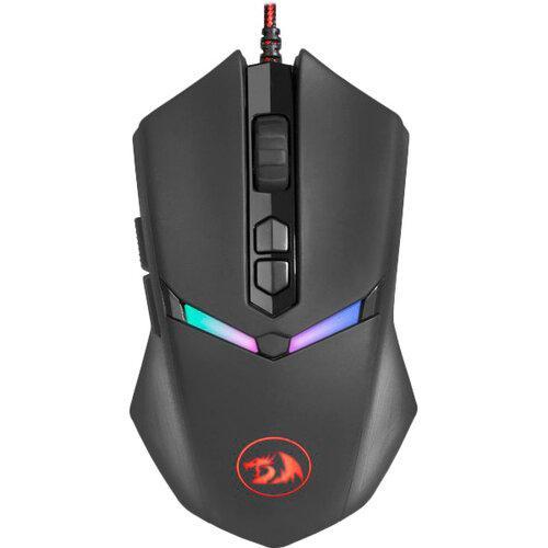 Мышь Redragon Nemeanlion 2 игровая, 7200dpi, подсветка, USB, чёрно-красный