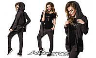 Женский оригинальный молодежный костюм спортивного стиля 42 р-кофта:длина -68см, длина рукава-68см, ОГ-94см+,