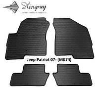 Резиновые автомобильные коврики в салон JEEP Patriot 2007 джип патриот Stingray