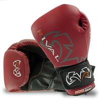 Профессиональные боксерские перчатки для спарринга 16 Oz натуральная кожа Красные RIVAL RS10V
