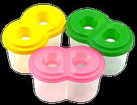 Стакан-непроливайка двойной 12,8 х 7,6 х 7,6 см пластиковый AS-0024, К-3024